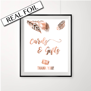 Copper wedding //// Cards and Gifts //// Feather //// wedding signs //// weddings ////