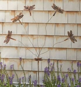 Awesome Image Is Loading Dragonfly Flutterer Whimsy Copper Finish Metal Garden Stake