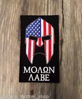 Molon Labe American Flag Spartan Patch