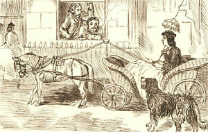 1866 Pen and Ink Drawing - A Nice Offer