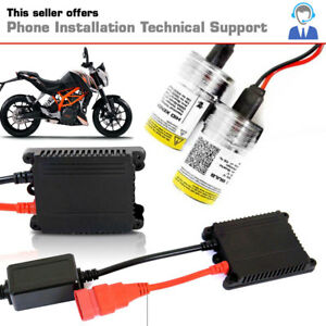 Details about AGT AC 2x H11 AC Slim Motorcycle HID Xenon Conversion Kit -  6000K