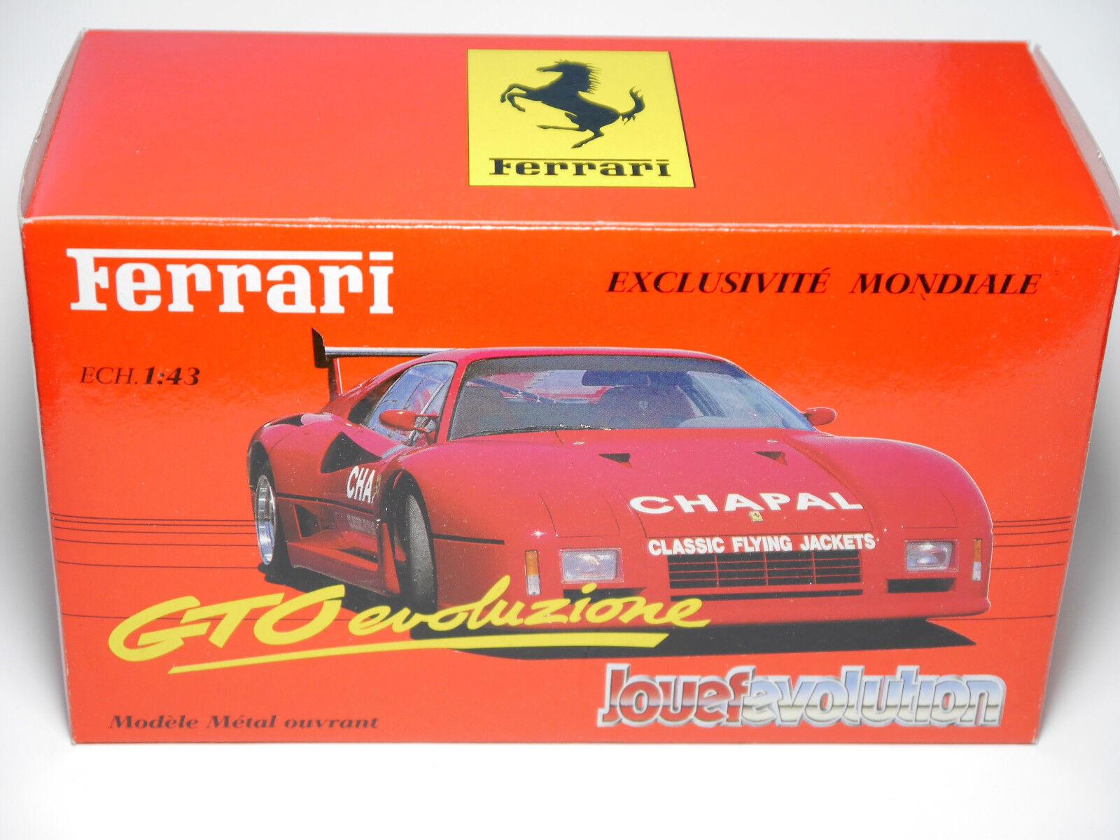 Ferrari GTO evoluzione rosso rosso Rosso rosso, Revell Jouef Evolution 1 43 Boxed