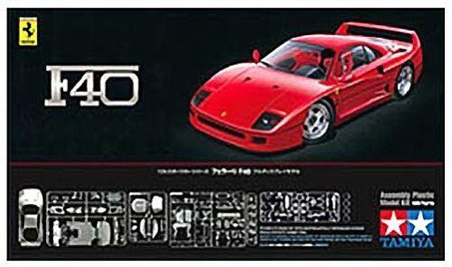 1:24 Ferrari F40 Plastic Model Kit 24295 TAM24295 Tamiya America TAM