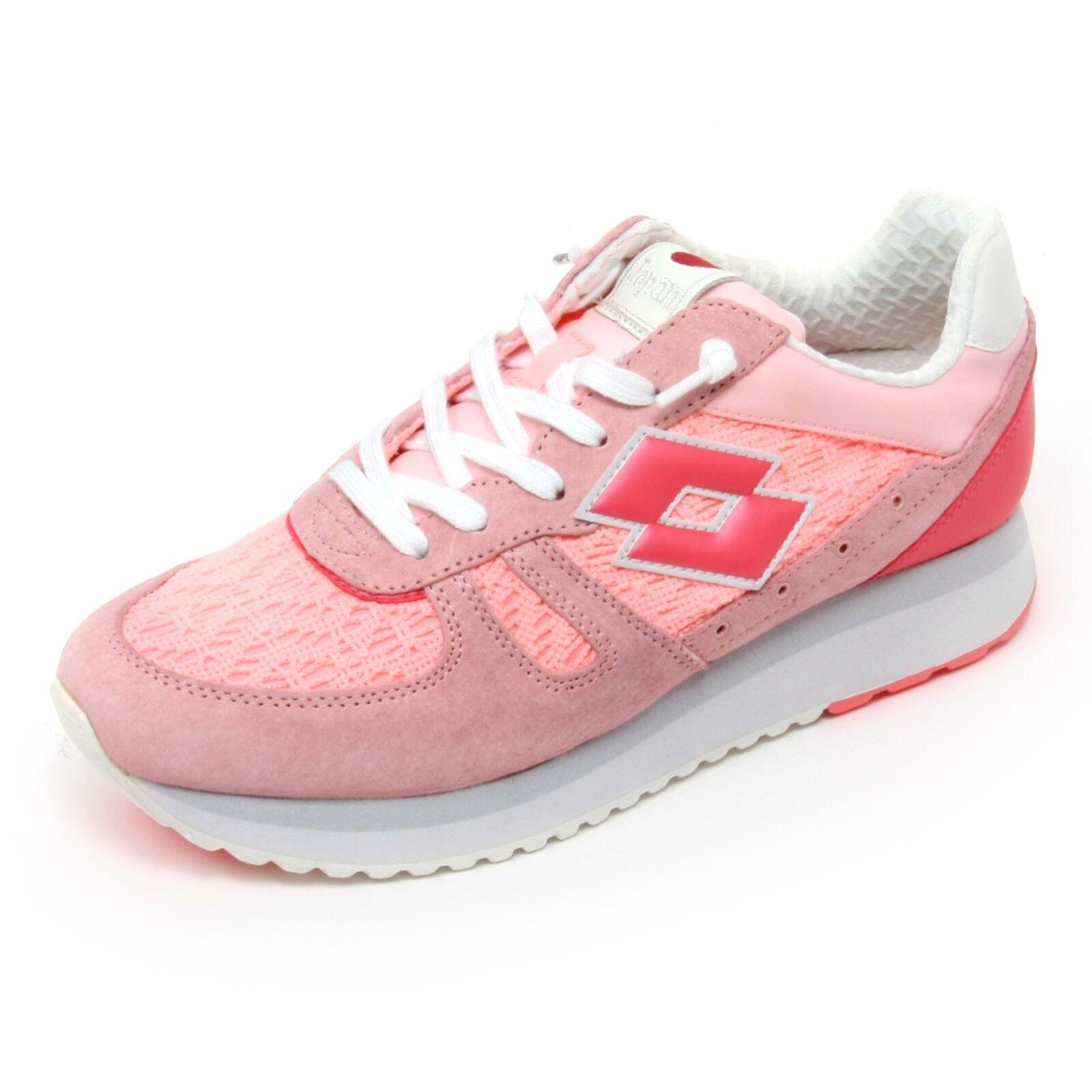 B6734 sneaker donna LOTTO LEGGENDA TOKYO WEDGE scarpa rosa shoe woman