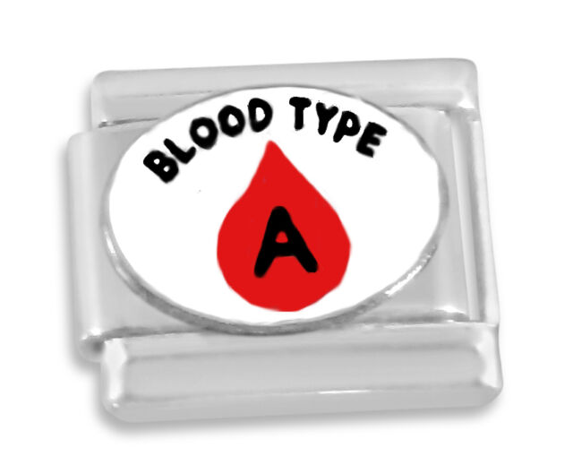 Italian charm Blood type A 9mm link    (AA6)