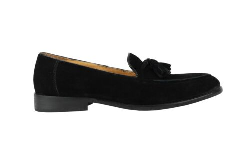 Shoes Real On Smart Slip Black Tassel Loafers Mens Suede Leather Bdpxq88z