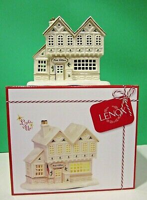 LENOX CHRISTMAS VILLAGE POST OFFICE sculpture NEW in BOX Lighted series