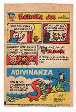 Bazooka Joe Argentina Rare Spanish Text large size Wax wrapper comic 1970s