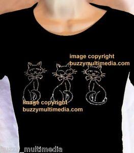 Rhinestone-Cat-T-Shirt-cute-amp-sassy-womens-tee