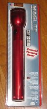 MAGLITE 3-D Cell Flashlight, Red Krypton Mag Lite Maglight Mag-lite 3 D Cell