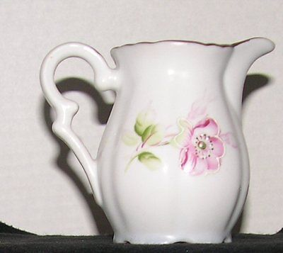 Beautiful Rare Arnalt Pitcher With Pink Flowers Amp Curvy