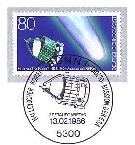 Rfa 1986: Halley Cisaillement Comète Nº 1273 Avec Bonner Ersttags-cachet Spécial! 1 A! 1904-rstempel! 1a! 1904afficher Le Titre D'origine
