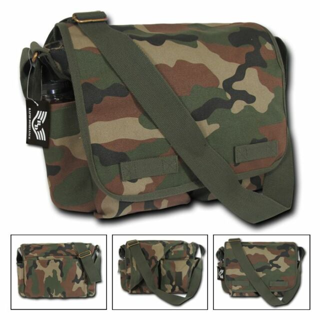 New US Military Army Camouflage Camo Shoulder Messenger Satchel Tote Bags Bag