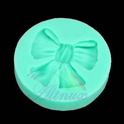 Silicone Fondant Bow Ribbon Tie Candy Cake Jello Soap Chocolate Sugarcraft Mold