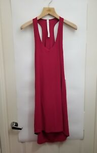 Lululemon-Rejuvenate-Dress-NWT-Size-2-4-6-8-10-12-Ruby-Red-Relaxed-Swim-Cover-Up