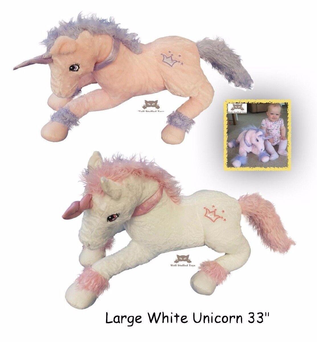 Extra Large Unicorn Soft Toy Plush 85cm 33