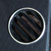 VW \ VOLKSWAGEN BEETLE ALUMINIUM DEMISTER WINDSCREEN AIR VENT SURROUND RINGS