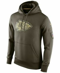 new arrival d2b56 81ce9 Mens M Nike Kansas City Chiefs NFL Salute to Service 2015 Hoodie Military