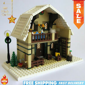 MOC-10631-Winter-Barn-House-City-Creator-Winter-Village-Holiday-Building-Blocks