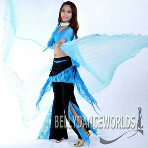 BELLY-DANCE-COSTUME-SET-ISIS-WINGS-LARGE-8-COLORS-NEW