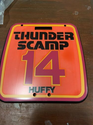 Retro MX-# 14 Rare NOS Old School BMX Huffy Thunder Scamp Number Plate