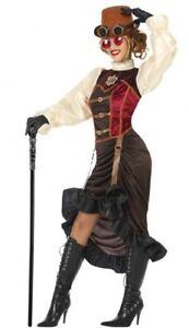 Déguisement Femme Steampunk Marron Xl 44 Costume Adulte Victorien