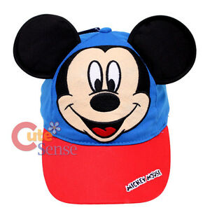 Disney Mickey Mouse Hat Baseball Cap with 3D Ear Kids Adjustable Hat