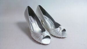 Superior Image Is Loading Dyeables Wedding Shoes White Satin Ida US 11B