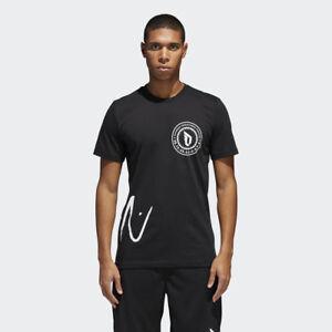 0a5f3dae75d adidas Dame Logo Tee Men New T-Shirt White Black Dolla Damian ...