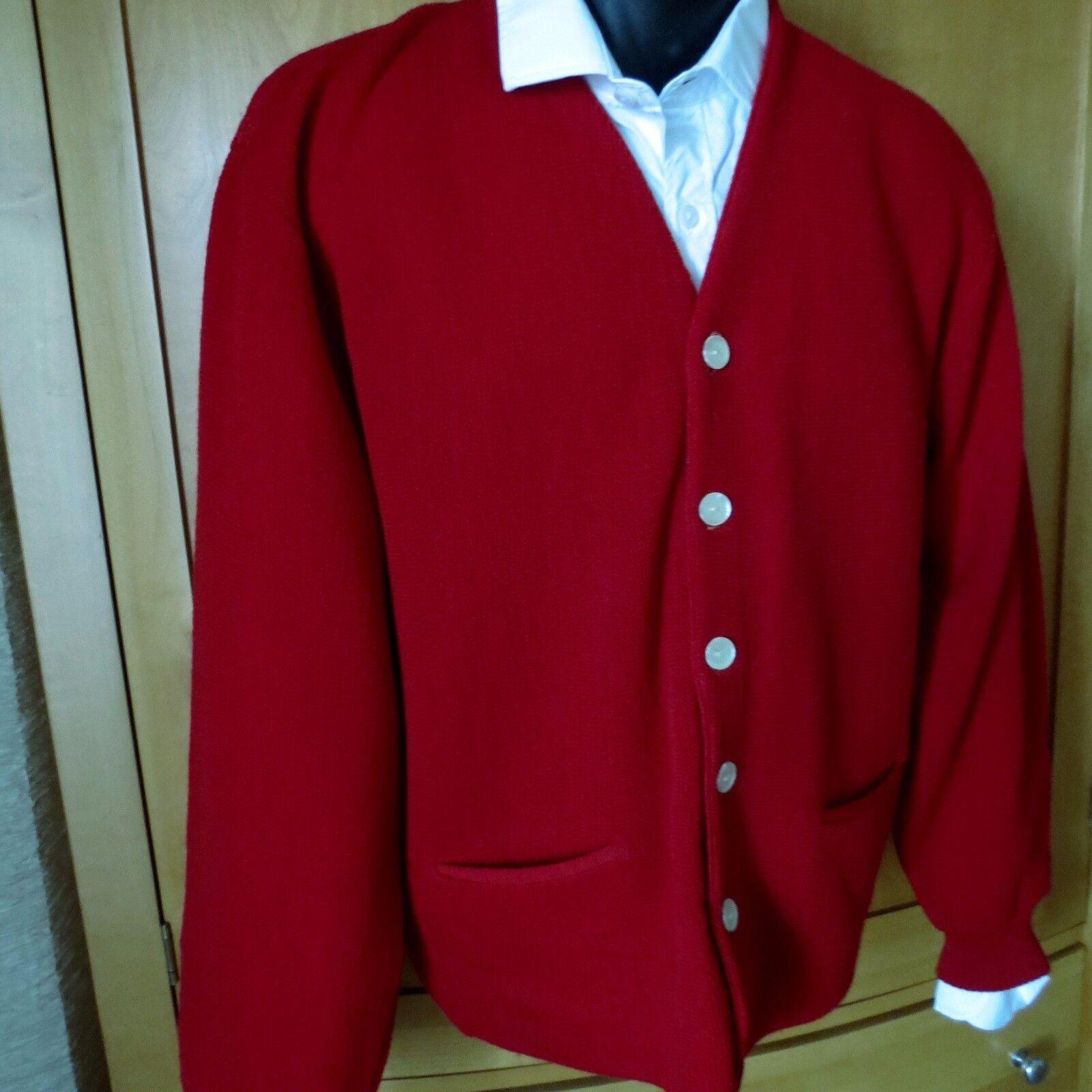 Vtg 60s Jantzen 100% Wool Cardigan Sweater Herren Hipster  Preppy Grunge L. EEUC