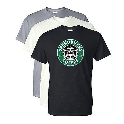 Ready to ship! Starbucks Sizes S-4XL Spendbucks Coffee T-Shirt
