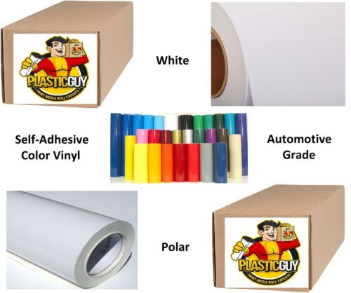 "Self-Adhesive Calendar Sign Vinyl 24/"" x 150 ft or 50yd White 1 Roll Gloss"