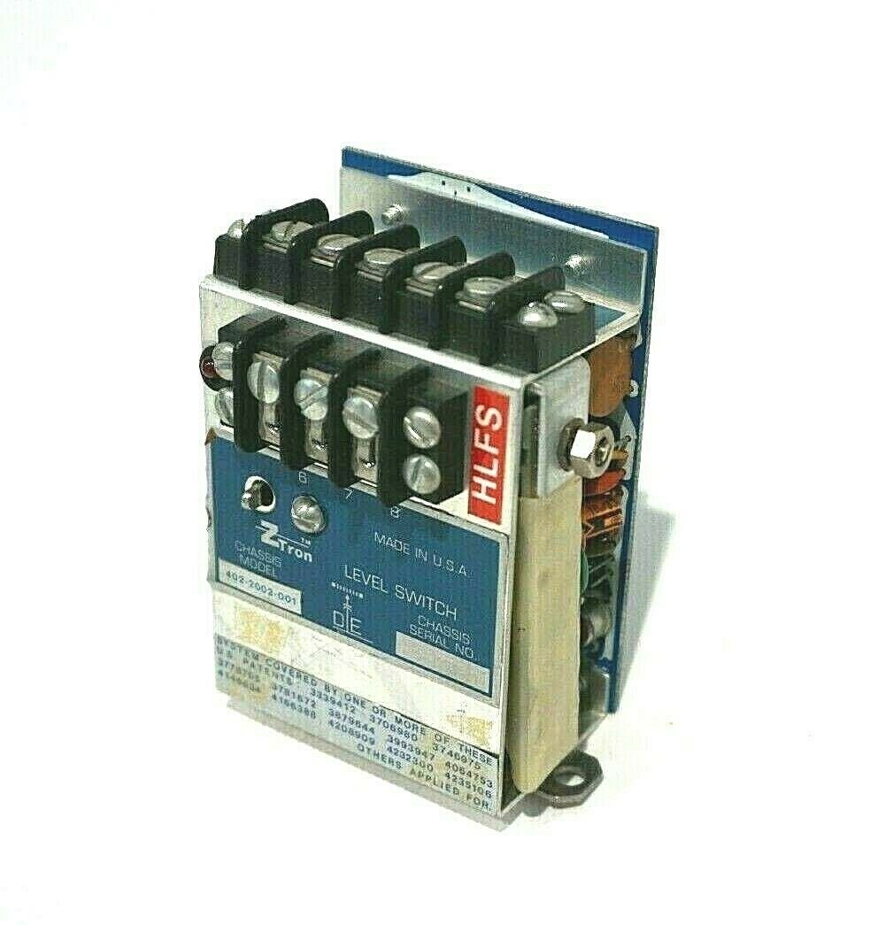 USED ZTRON 402-2002-001 LEVEL SWITCH 4022002001