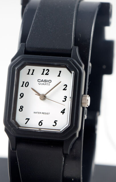 Casio Classic Ladies White Square Analog Watch LQ-142-7B New