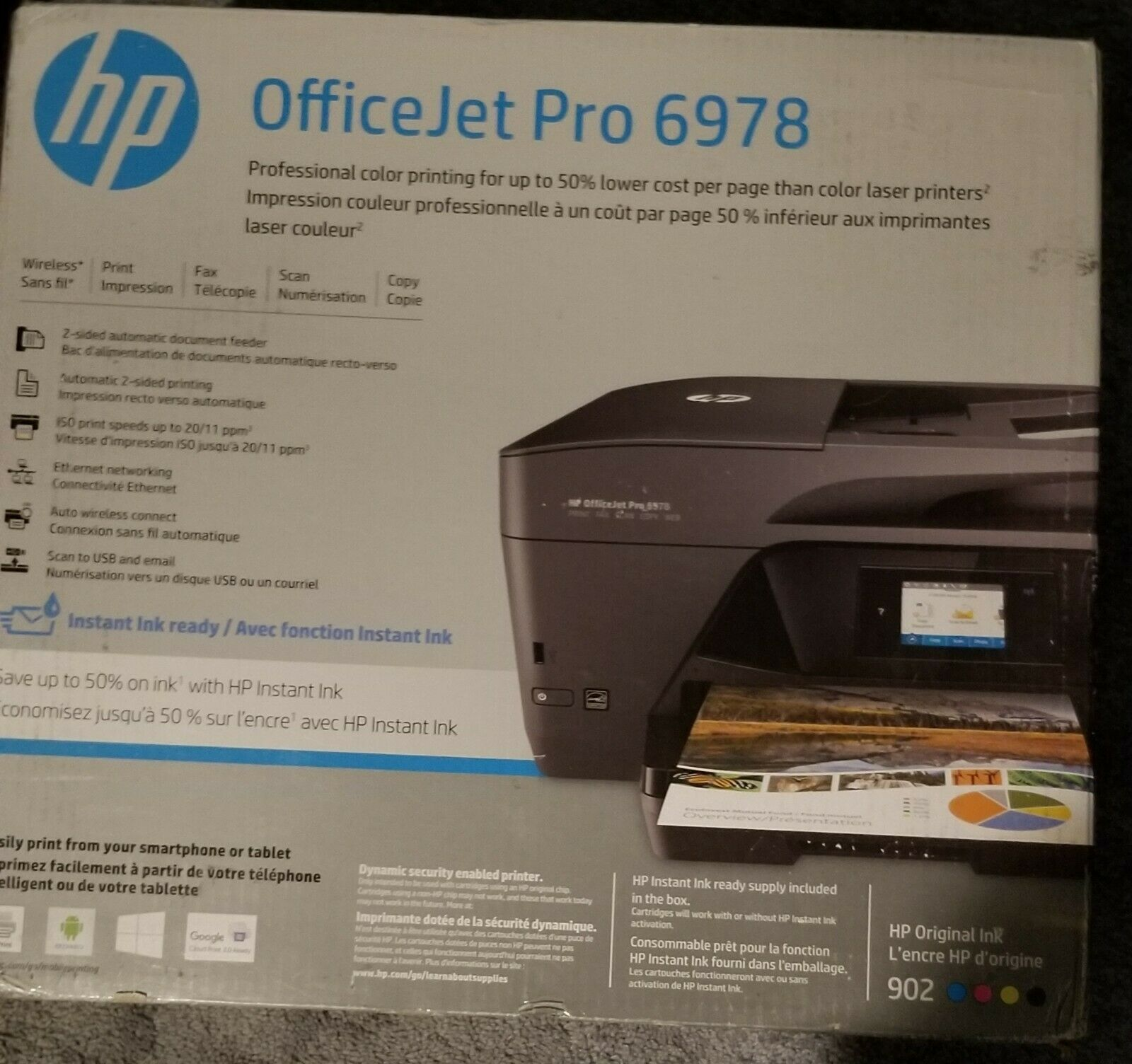 HP OfficeJet Pro 6978 Wireless All-In-One Instant Ink Ready Printer Scanner Fax. Buy it now for 140.00