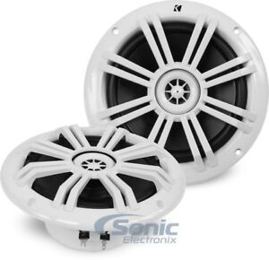 Kicker 41KM604W 6-1//2 6.5 KM-Series 150W Peak//50W RMS Marine Speakers KM60 New