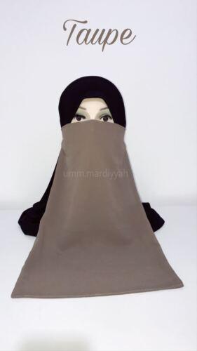 VEIL Various Colours Elastic Half Niqab