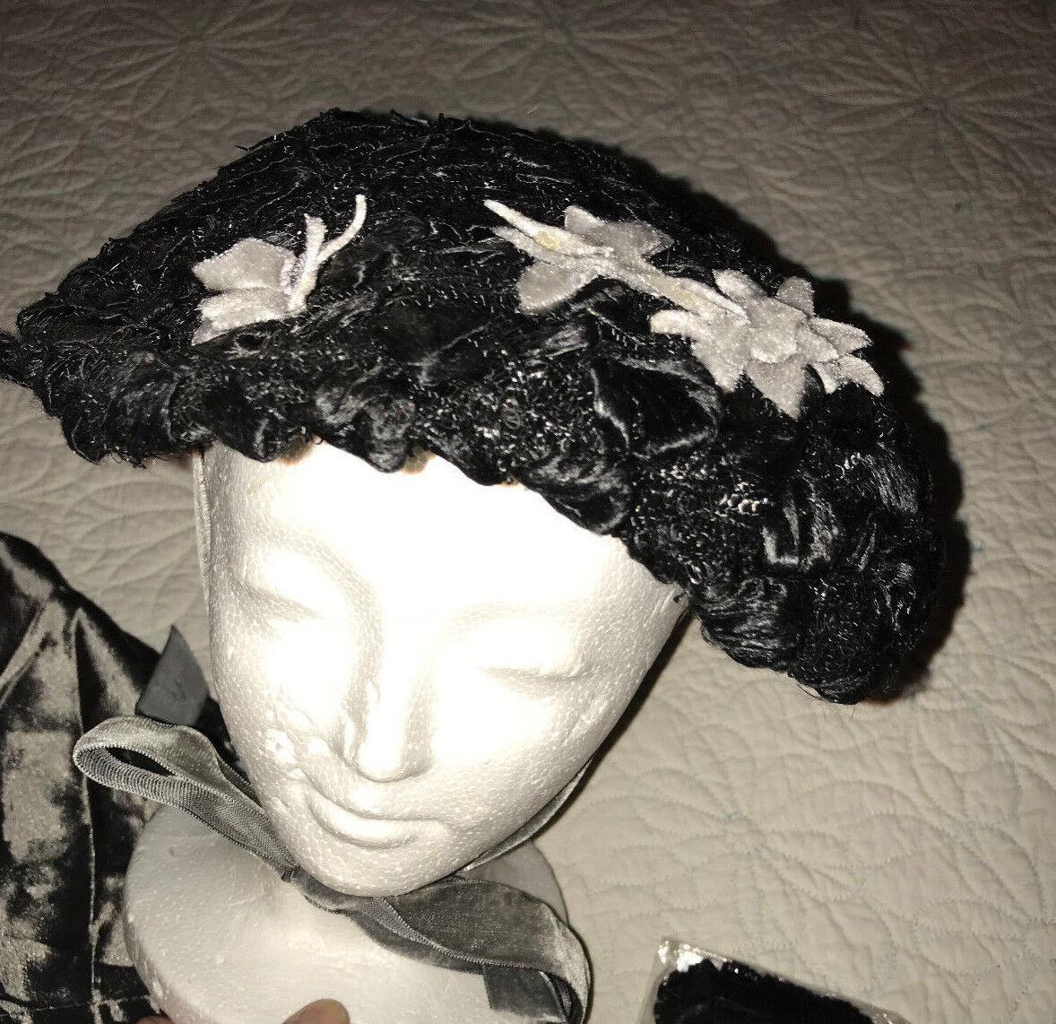 Victorian regency caroling costume Hat CAPE accessories Dickens Edwardian gray