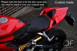 DESGN 2 GRIP VINYL RED ST CUSTOM FITS DUCATI 899 1199 FRONT COMFORT SEAT COVER