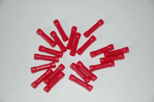Electrical Butt Connectors Red Insulated Butt Crimp Terminals
