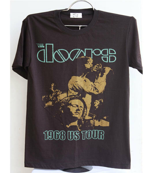 New The Doors Jim Morrison t-shirt vintage punk rock band tour vtg black size M