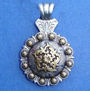 Western Jewelry Antique Silver//Gold Engraved Star Concho Pendant Kit