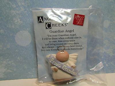 """NEW ON CARD GUARDIAN ANGEL NANA PIN 1/"""" Russ  Angel Cheeks"""