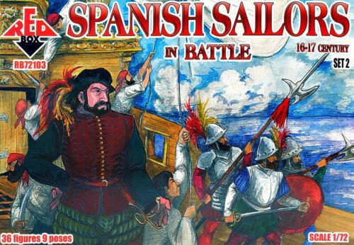 16-17 Century Red Box 72103 Spanish Sailors In Battle Set 2 Model Kit 1//72