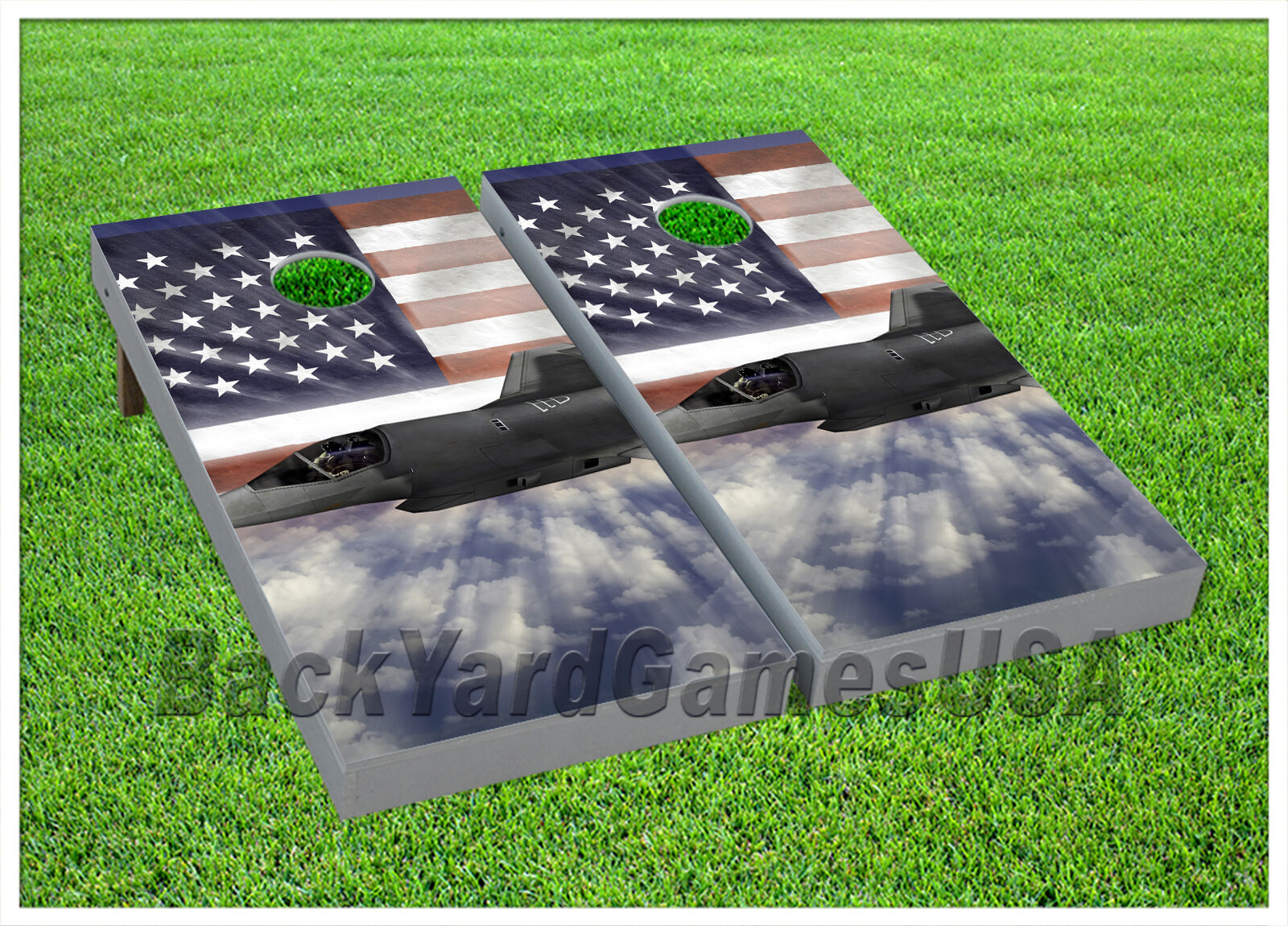 VINYL WRAPS CORNHOLE BEANBAG USA Army Jet Fighter  Serving Above All Boards 949  buy brand