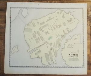 Details about Antique Colored MAP - PLAN OF KITTERY, MAINE Atlas York on blank us map, grand canyon us map, view us map, painted desert us map, colorado river us map, list us map, editable us map, santa fe us map,