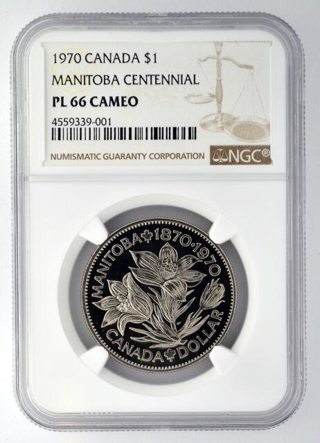 1970 $1 Canada Manitoba Centennial Dollar NGC PL 66 Cameo