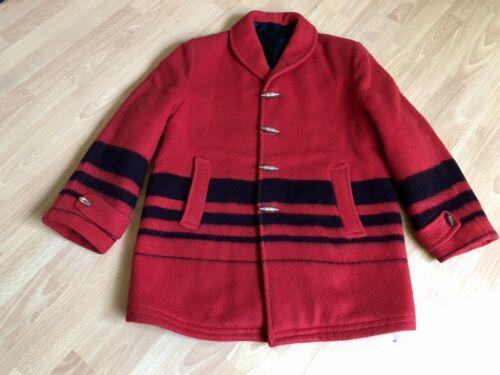 VTG HUDSON BAY ?ICONIC Wool Blanket JACKET Coat, S