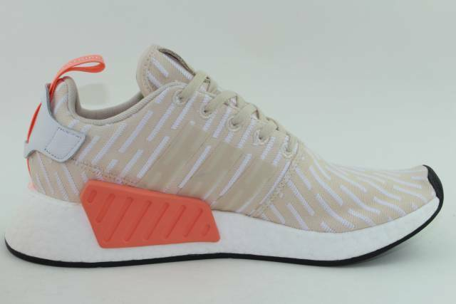 e4fddfc5eaf41a adidas NMD R2 Womens Ba7260 Linen White Primeknit Boost Running Shoes Size  9.5 for sale online
