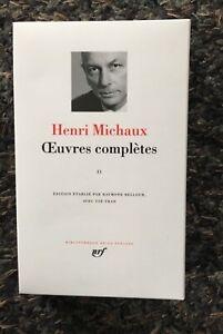 Henri Michaux. Oeuvres complètes. Tome 2  La Pléiade. 2001 ÉTAT NEUF